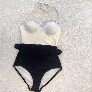 Topshop Ruffle Swimsuit